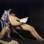Forstyrr aldri en kvinne når hun leser sin bok…