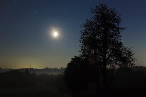 Moon, Mars and Antares