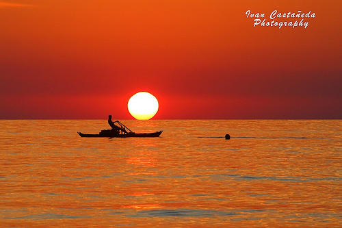 Sunrise and fisherman - Vieste - Puglia - Italia.