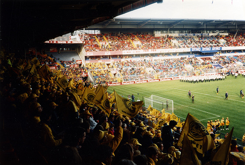 Ullevål stadion, Cup finale 1993. Glimtsupportere
