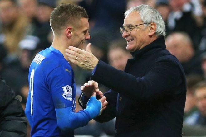 Claudio Ranieri løfter trofeet, Bocelli på besøk