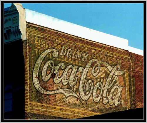 Livingston MT ~  Coca  Cola Ghost Sign