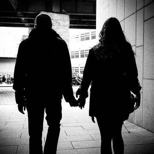 Love - Dublin, Ireland - Black and white street photography