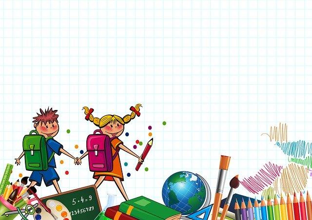 Glade barn på vei hjem fra skolen uten å måtte tenke på vanskelige lekser